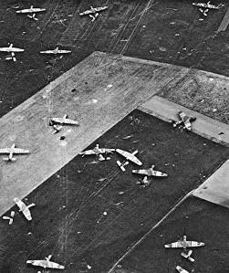Airborne troops landing in Caen.