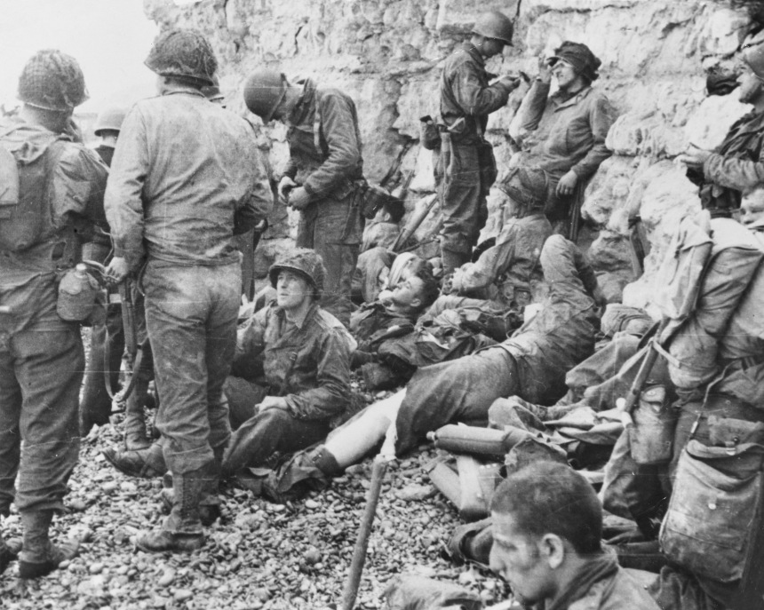 D-Day - Resting American Assault Troops