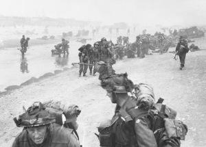 D-Day - British Troops landing - Queen Beach - Sword Area