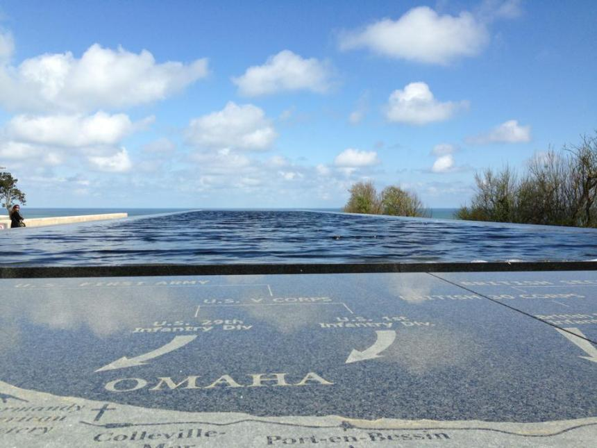 Infinity pool at American Cemetery