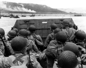 US troops prepare to land on Omaha Beach
