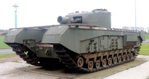 Churchill AVRE Petard tank.