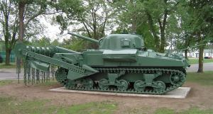 Sherman Flail (anti mine) tank.